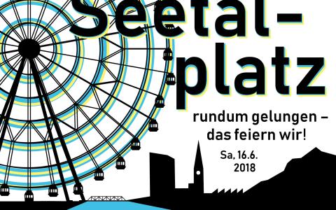 Seetalplatz: Plakat Eröffnungsfeier