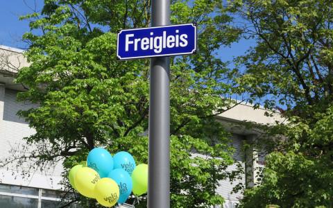 """Mit der Eröffnung des Festes wird der Siegername aus dem Namenswettbewerb enthüllt: """"Freigleis"""""""