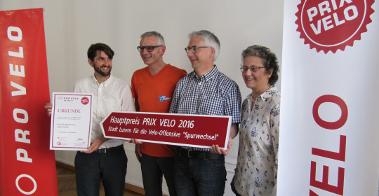 Stadt Luzern gewinnt Prix Velo