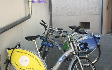 Nextbike-Station Lindenstrasse Reussbühl/Luzern