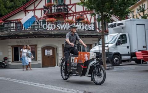 In der Stadt geht's am schnellsten mit dem eCargo-Bike