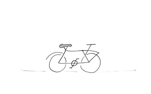 Zeichne ein Velo Nr. 0010