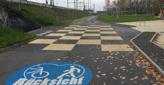 Velo- und Fussweg Luzern Nord: Rücksicht!