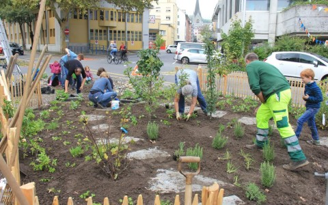 Naschgarten Neubad/Freigleis: Pflanztag